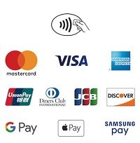 We Accept these card for iZettle